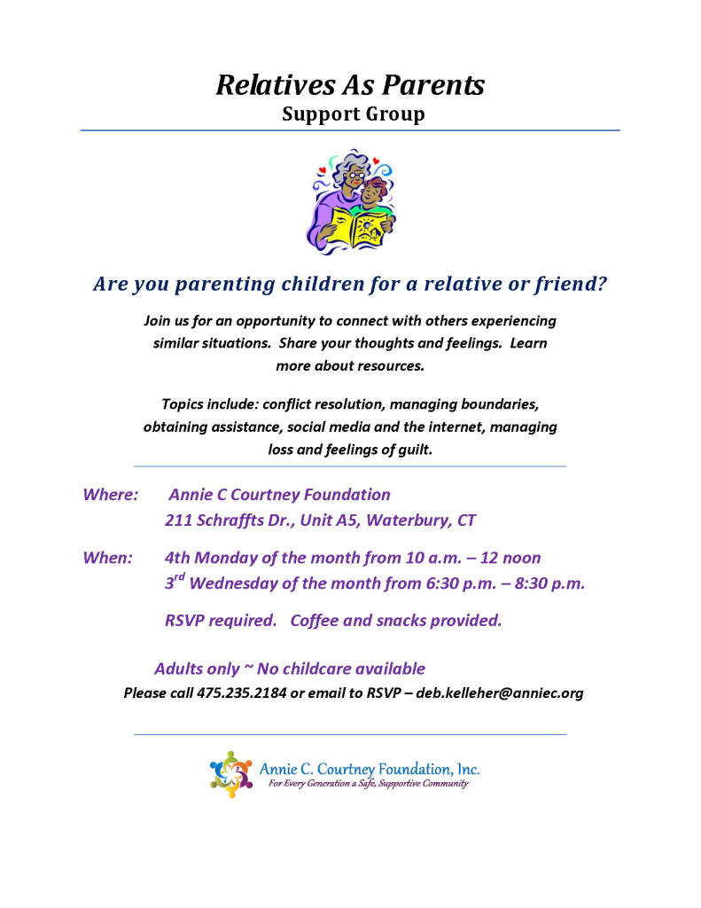 Relatives As Parents Support Group Flyer -ACCF 1014 rev