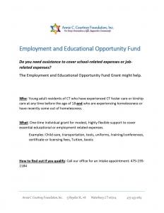 EOF grant guidelines